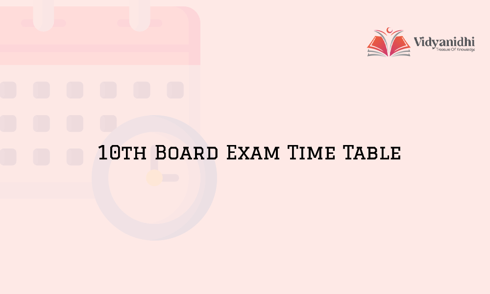10th Board Time Table in 2021
